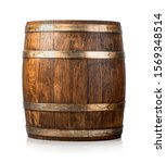 Wooden Cask Isolated On A Whit...