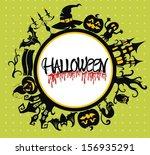 halloween background | Shutterstock .eps vector #156935291