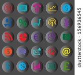 icon set vector illustration... | Shutterstock .eps vector #156936545