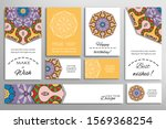 big set of greeting cards or... | Shutterstock .eps vector #1569368254