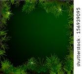 christmas tree branches vector... | Shutterstock .eps vector #156939095
