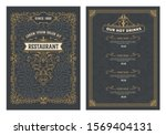 vintage wedding invitation. 20... | Shutterstock .eps vector #1569404131
