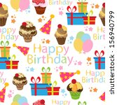 birthday seamless | Shutterstock .eps vector #156940799