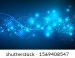 abstract blue hexagon pattern.... | Shutterstock .eps vector #1569408547