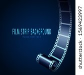 realistic 3d cinema film strip... | Shutterstock .eps vector #1569423997
