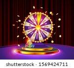 vector illustration spinning...   Shutterstock .eps vector #1569424711