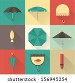 vector vintage umbrellas | Shutterstock .eps vector #156945254