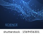 scientific molecule background... | Shutterstock .eps vector #1569456301