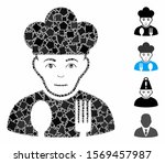 sad cook icon mosaic of joggly... | Shutterstock .eps vector #1569457987