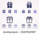 gift box icon design template.... | Shutterstock .eps vector #1569502987
