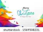 merry christmas and happy new... | Shutterstock .eps vector #1569508231