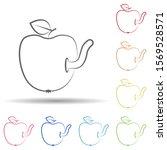 apple  worm in multi color...