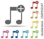 music plus in multi color style ...