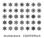 snowflakes set. winter flat... | Shutterstock .eps vector #1569539614