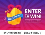 enter to win prizes gift box....   Shutterstock .eps vector #1569540877