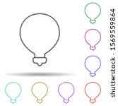 light bulb multi color icon....