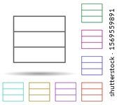 database multi color icon....