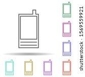 phone multi color icon. simple...