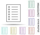 order in list multi color icon. ...