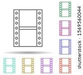 cinema lent multi color icon....