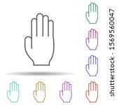 hire me hand multi color icon....