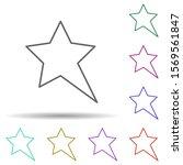 elongated star multi color icon....