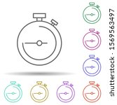 stopwatch multi color icon....