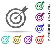 target sign in multi color... | Shutterstock .eps vector #1569564457