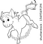mice turned into horse  fairy... | Shutterstock . vector #1569569194