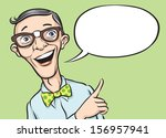 vector illustration of smiling... | Shutterstock .eps vector #156957941