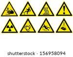 mark symbol. warning signs | Shutterstock . vector #156958094