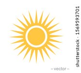 sun icon vector for your web... | Shutterstock .eps vector #1569593701