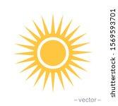 sun icon vector for your web... | Shutterstock .eps vector #1569593701