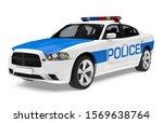 Police Car Isolated. 3d...