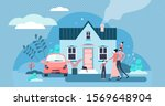 family house vector... | Shutterstock .eps vector #1569648904