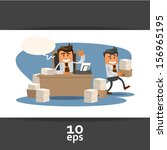 illustration of office theme.... | Shutterstock .eps vector #156965195