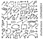 arrows hand drawn vector set.... | Shutterstock .eps vector #1569660814