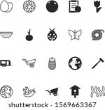 nature vector icon set such as  ... | Shutterstock .eps vector #1569663367