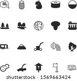 nature vector icon set such as  ... | Shutterstock .eps vector #1569663424