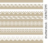 seamless paper laces | Shutterstock .eps vector #156967295