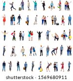 """collection """" back view people """"....   Shutterstock . vector #1569680911"""