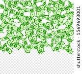 american dollar notes falling.... | Shutterstock .eps vector #1569693001