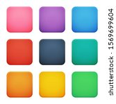 colorful square buttons set.... | Shutterstock .eps vector #1569699604