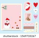 merry christmas printable card... | Shutterstock .eps vector #1569733267