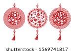 chinese new year 2020. three...   Shutterstock .eps vector #1569741817