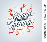 grand opening ceremony poster... | Shutterstock .eps vector #1569742234