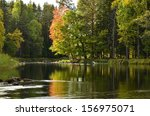 Autumn Lake Scenery Countrysid...