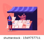 people reading and selling... | Shutterstock .eps vector #1569757711