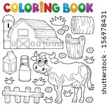 coloring book cow theme 1  ... | Shutterstock .eps vector #156978431