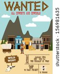 wild west birthday party... | Shutterstock .eps vector #156981635
